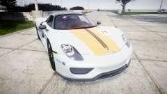 Porsche 918 Spyder 2014 Weissach para GTA 4