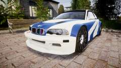 BMW M3 E46 GTR Most Wanted plate NFS Carbon
