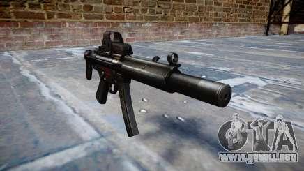 Pistola de MP5SD EOTHS CS b de destino para GTA 4