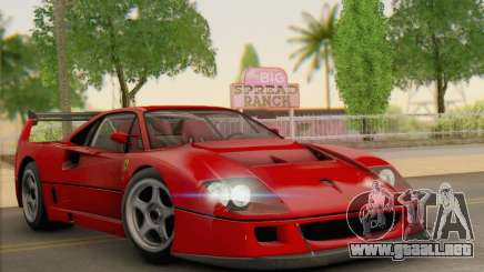 Ferrari F40 Competizione Black Revel para GTA San Andreas
