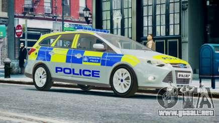 Met Police Ford Focus Estate IRV ELS 8 2013 para GTA 4