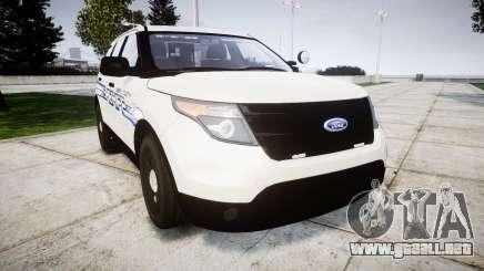 Ford Explorer 2013 [ELS] Liberty County Sheriff para GTA 4
