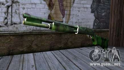 Chromegun v2 Militar para colorear para GTA San Andreas