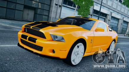 Ford Shelby Mustang GT500 2011 v1.0 para GTA 4