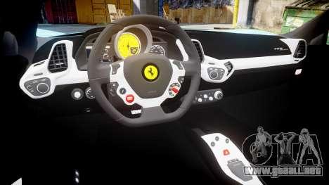 Ferrari 458 Italia 2010 v3.0 Purrari para GTA 4 vista interior