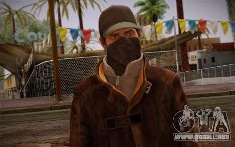 Aiden Pearce from Watch Dogs v5 para GTA San Andreas tercera pantalla