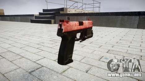 La pistola HK USP 45 rojo para GTA 4 segundos de pantalla
