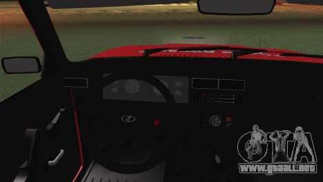 VAZ 2107 Auto Escuela para GTA San Andreas vista posterior izquierda