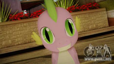 Spike from My Little Pony para GTA San Andreas tercera pantalla