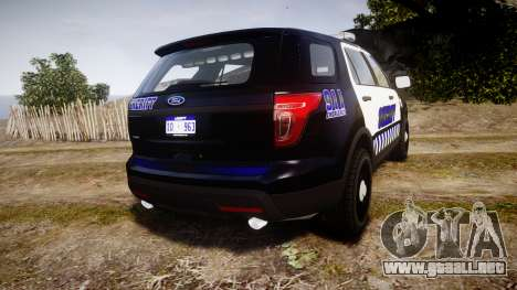 Ford Explorer 2013 Sheriff [ELS] v1.0L para GTA 4 Vista posterior izquierda