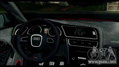 Audi RS5 Coupe para GTA San Andreas vista posterior izquierda