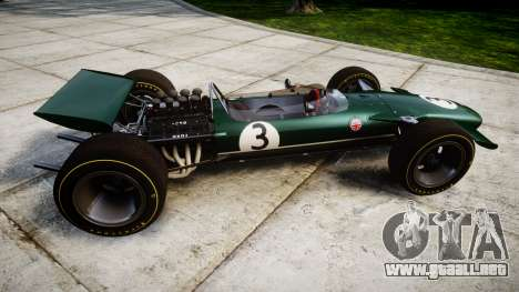 Lotus Type 49 1967 [RIV] PJ3-4 para GTA 4 left