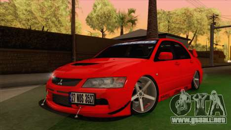 Mitsubishi Lancer Evolution VIII MR para GTA San Andreas