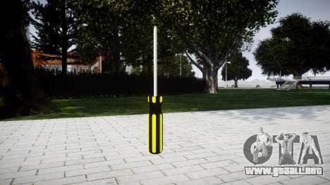 Destornillador para GTA 4 segundos de pantalla