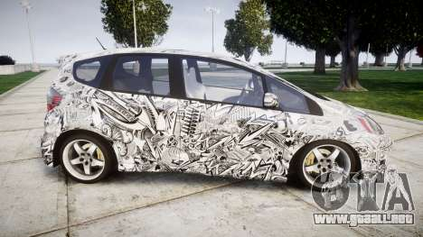 Honda Fit 2006 Sharpie para GTA 4 left