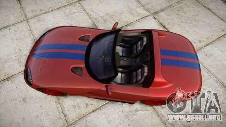 Dodge Viper RT-10 1992 para GTA 4 visión correcta