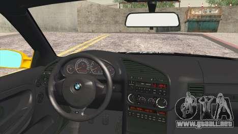 BMW M3 E36 Camber Style para GTA San Andreas vista posterior izquierda