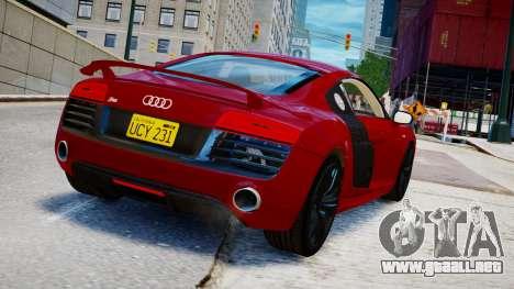 Audi R8 V10 Plus 2014 v1.0 para GTA 4 left