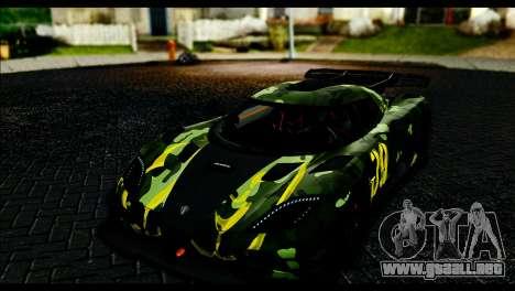Koenigsegg One:1 v2 para visión interna GTA San Andreas