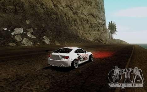 Subaru BRZ VCDT para la visión correcta GTA San Andreas