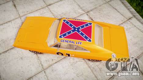 Dodge Charger RT 1969 General Lee para GTA 4 visión correcta