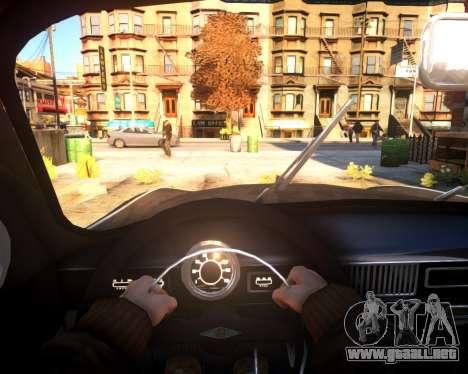 Moskvich 407 para GTA 4 vista hacia atrás