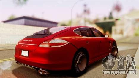 Porsche Panamera para GTA San Andreas left