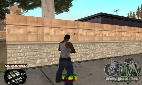 C-HUD Rasta para GTA San Andreas segunda pantalla