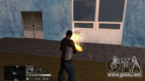C-HUD Silver para GTA San Andreas tercera pantalla