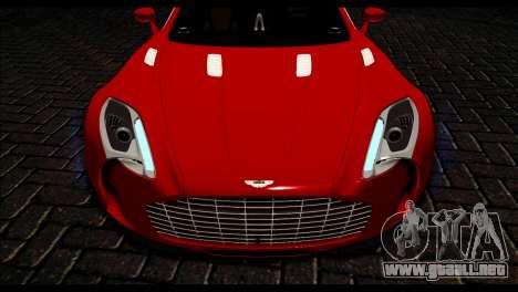 Aston Martin One-77 Black Beige para la visión correcta GTA San Andreas
