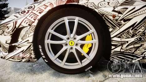 Ferrari F430 Scuderia 2007 Sharpie para GTA 4 vista hacia atrás