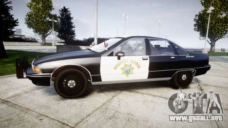 Chevrolet Caprice 1991 Highway Patrol [ELS] Slic para GTA 4 left