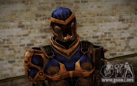 Shepard Reckoner Armor from Mass Effect 3 para GTA San Andreas tercera pantalla