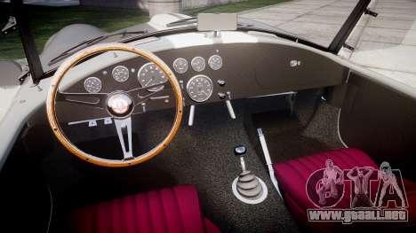 AC Cobra 427 PJ1 para GTA 4 vista interior