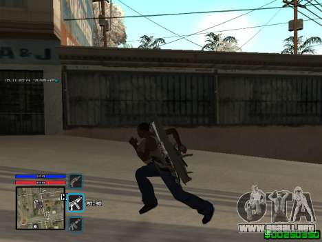 C-HUD Only Ghetto para GTA San Andreas segunda pantalla