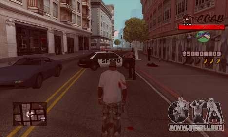 C-HUD A.C.A.B para GTA San Andreas segunda pantalla