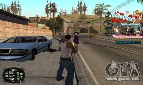 C-HUD Tawer GTA 5 para GTA San Andreas sucesivamente de pantalla
