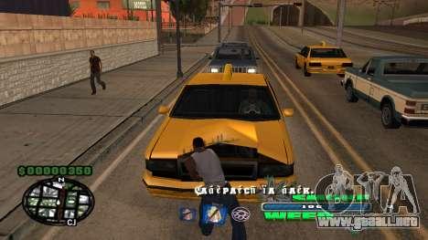 C-HUD Smoke Weed para GTA San Andreas segunda pantalla