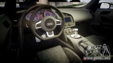 Audi R8 plus 2013 HRE rims para GTA 4 vista lateral