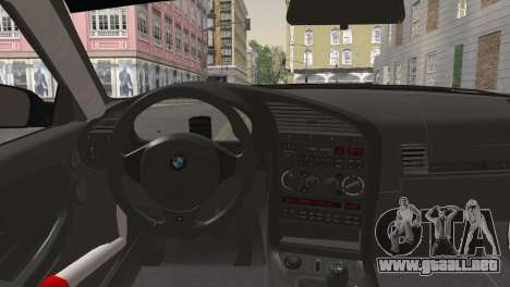 BMW M3 E36 Bridgestone v2 para GTA San Andreas vista posterior izquierda