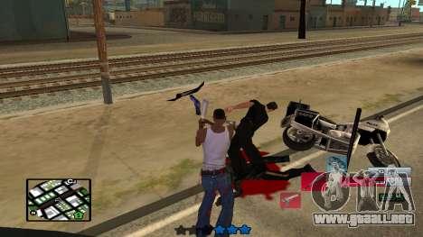 C-HUD by SampHack v.19 para GTA San Andreas sucesivamente de pantalla