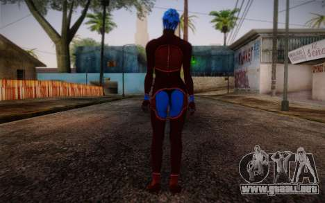 Asari Dancer from Mass Effect para GTA San Andreas segunda pantalla