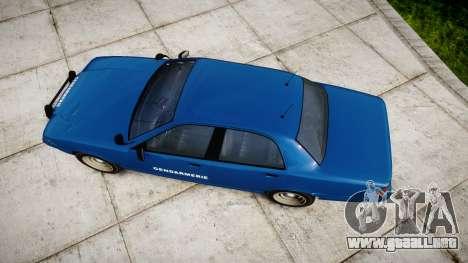 GTA V Vapid Police Cruiser Gendarmerie2 para GTA 4 visión correcta