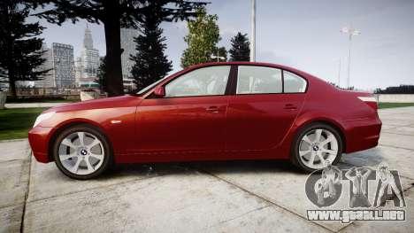 BMW 525d E60 2006 para GTA 4 left