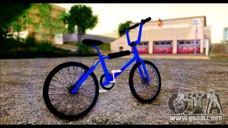 New BMX Bike para GTA San Andreas vista posterior izquierda