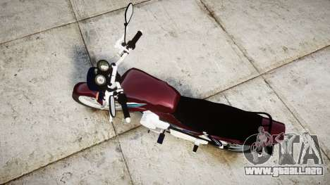 Yamaha YBR 125 para GTA 4 visión correcta
