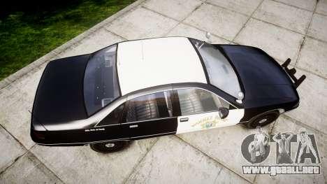 Chevrolet Caprice 1991 Highway Patrol [ELS] Slic para GTA 4 visión correcta