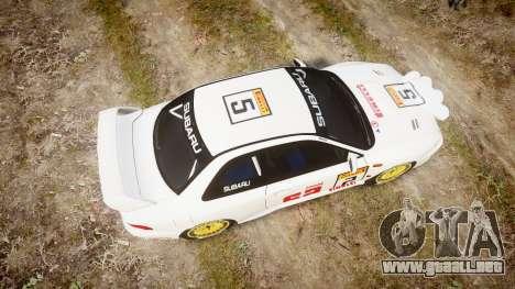 Subaru Impreza WRC 1998 v4.0 SA Competio para GTA 4 visión correcta