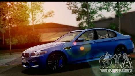 BMW M5 F10 2012 para vista inferior GTA San Andreas
