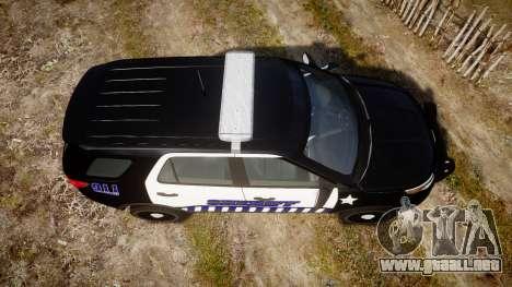 Ford Explorer 2013 Sheriff [ELS] v1.0L para GTA 4 visión correcta